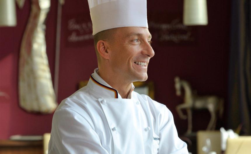 Küchenchef Matthias Kleber im Restaurant in Neuruppin