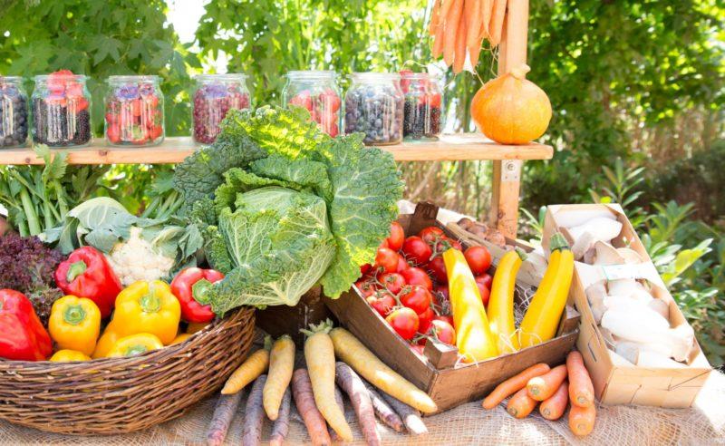 Gemüsestand auf dem kulinarischen Sommerfest in Neuruppin