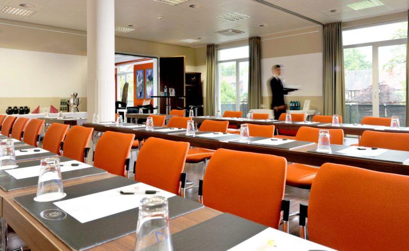 Eingedeckter Tagungsraum im Resort Mark Brandenburg