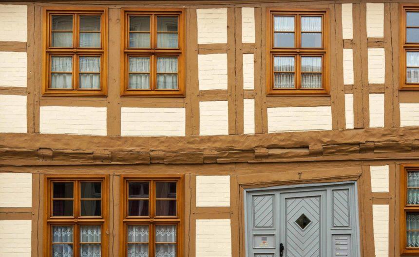 Außenfassade eines Fachwerkhauses