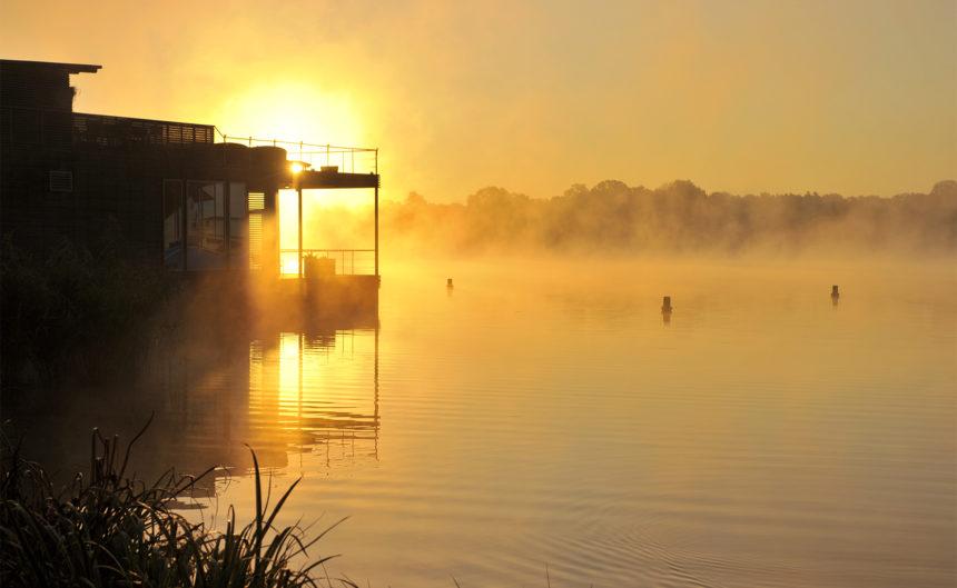 Aufnahme des Sonnenuntergangs am Ruppiner See