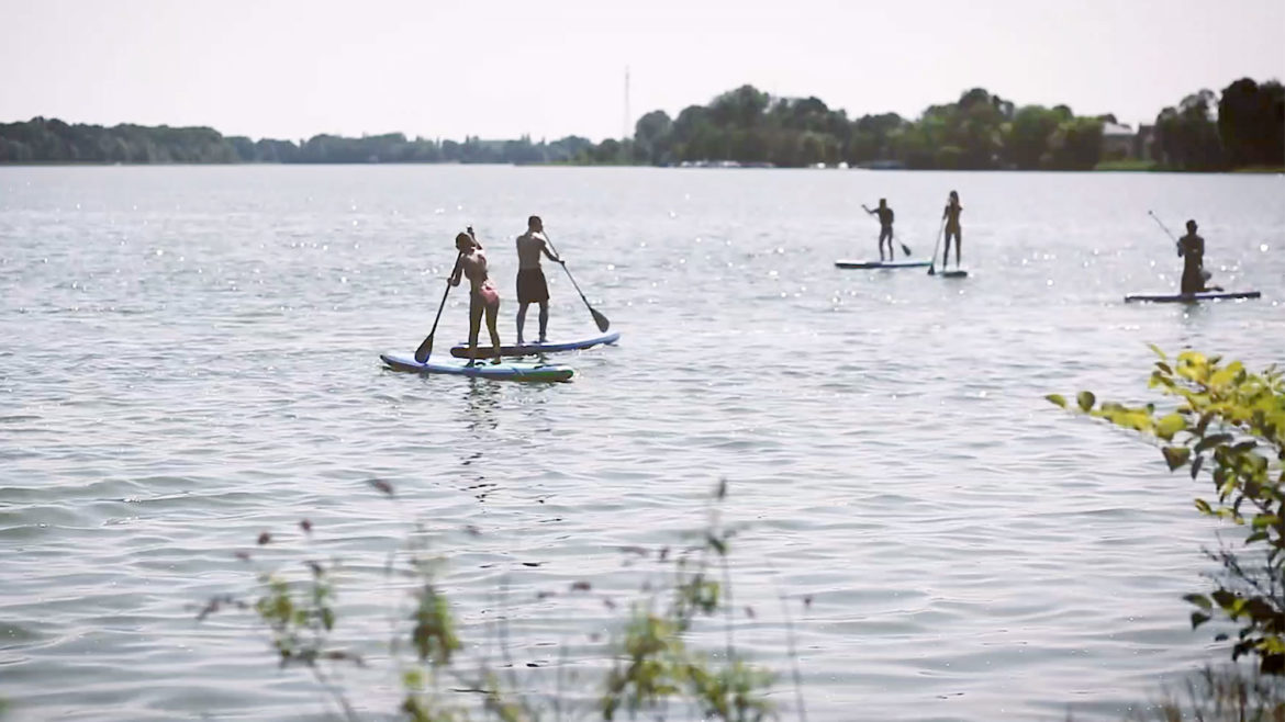Stand-Up Paddling auf dem Ruppiner See
