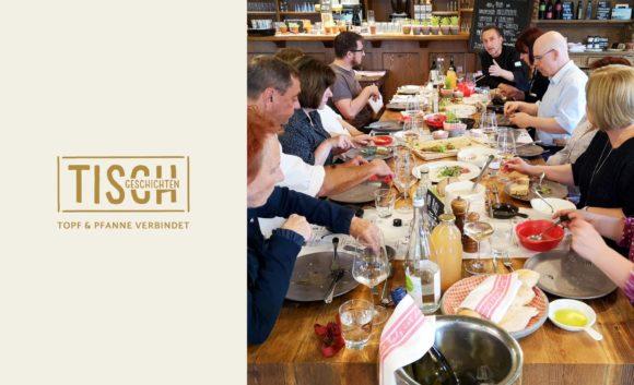 Gäste zu Tisch in der Seewirtschaft des Resorts Mark Brandenburg